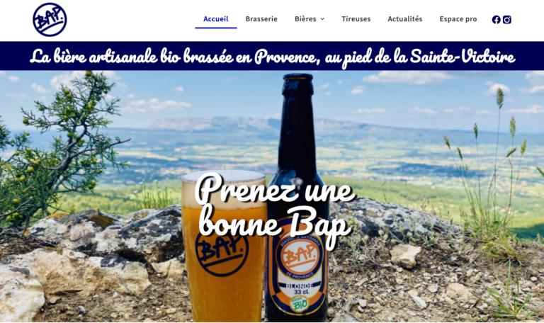 Site web Brasserie Artisanale de Provence