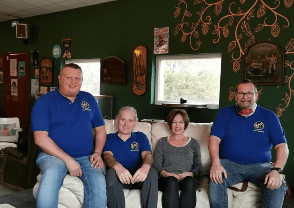 L'équipe de la BAP au Brew Pub