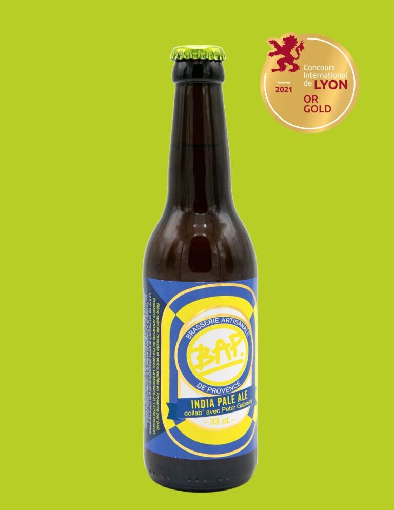 Bière BAP IPA médaille d'or Concours International de Lyon